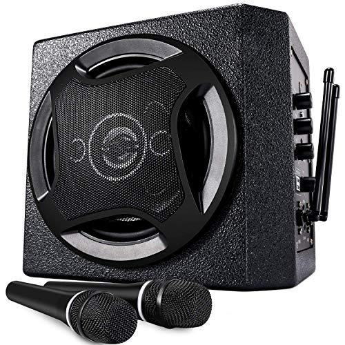 TONOR Altoparlante Bluetooth Sistema PA con Microfono Palmare Wireless 50 W, per Riunioni al Coperto, uso in Classe, Pubblico, Esibizioni in Piccoli Spettacoli e Feste in Famiglia
