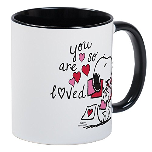 CafePress Snoopy - Taza de té, diseño de Snoopy, cerámica, Interior blanco...