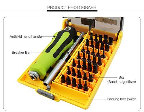 Laymann precisieschroevendraaier, hoge kwaliteit, 37in1, multifunctioneel, set met schroevendraaier voor mobiele telefoon, mini-reparatiegereedschap