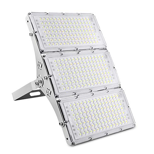 CHARON 300W LED Flood Light, 24000LM Super Bright Outdoor Security Lights with Wider Lighting Angle, 6000K Daylight White, IP66 Waterproof Outdoor Lighting for Garage, Garden, Lawn, Yard, Parking Lot
