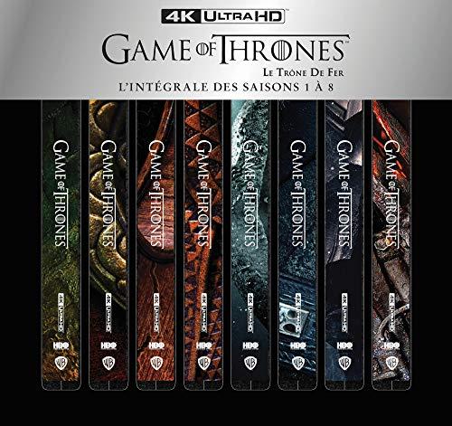 Game of Thrones (Le Trône de Fer) -L'intégrale des Saisons 1 à 8 [4K Ultra HD-Coffret métal + Boîtiers SteelBook]
