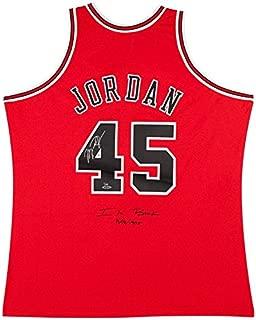 MICHAEL JORDAN Signed Bulls 45 Authentic 1995