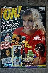 OK ! âge tendre 723 NOVEMBRE 1989 MICHEL POLNAREFF MELODY PHILIPPE LAFONTAINE BLACK BOX POSTER DAVID HASSELHOFF