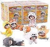 LWH-MOU Osomatsu-San Osomatsu Karamatsu Choromatsu Ichimatsu Doll Animal Pijamas PVC Anime Figura de Acción Modelo de Colección Juguetes 6pcs / Set