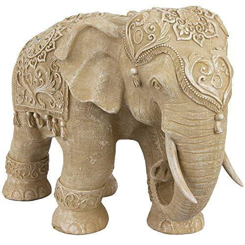 Oriental Furniture 20' Ivory Elephant Statue