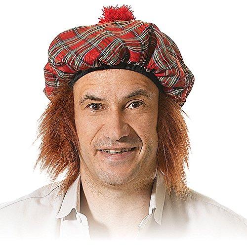 Bristol Novelty BH124 Chapeau écossais avec Cheveux Roux pour Homme, Taille Unique