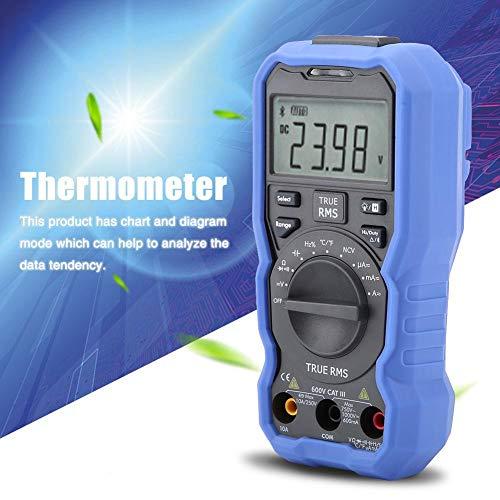 Oumefar Termómetro Pantalla LCD con retroiluminación Multímetro Datalogger NVC Sin Contacto para medir la frecuencia de Resistencia(QW16B)