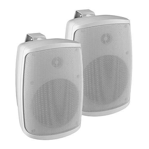 Monacor WALL 05T/WS Lautsprecher für Außenbereich, 100 V, 40 W, 8 Ohm