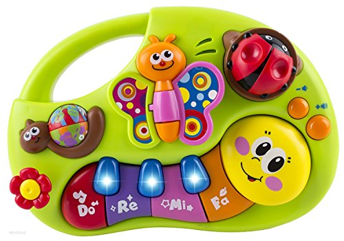 WISHTIME Baby Keyboard Piano Musical Toy Musical Toy Instruments Activity Centre With Songs Animal Sound Piano Note Color Recognition For Baby 6 months+