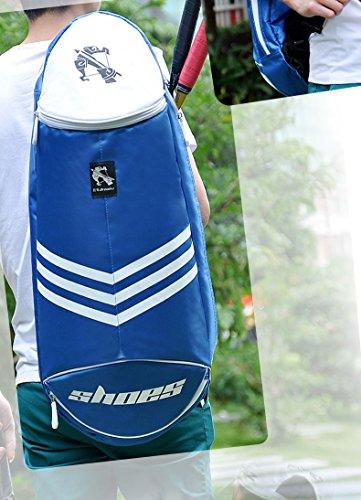 TentHome Waterproof Badminton Racket Cover Case Racquet Bag Sling Bag Tennis Bag Shoulder Carry Bag Backpack (Pink)