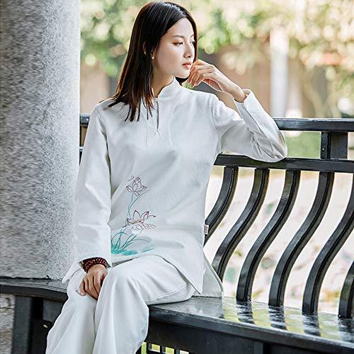 JTKDL Tai Chi pak dames pak katoen en linnen herfst en winter meditatie