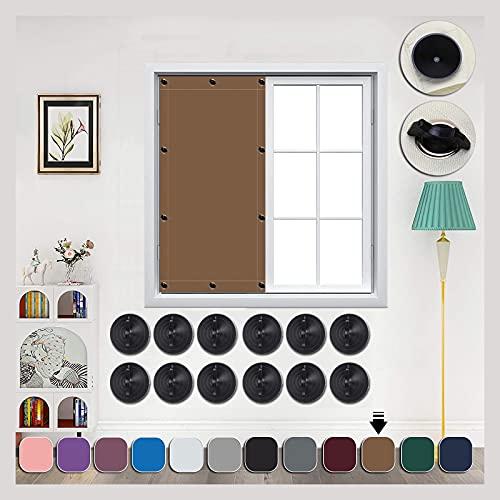 AIYOUVM Rollos zum Bohren 40x30cm Mehrfach Farbe, Mehrere Größenoptionen, Dachfenster verdunkelung Hitzeschutzrollo für Windows Velux Roto Solarschutz Wärmereduzierung
