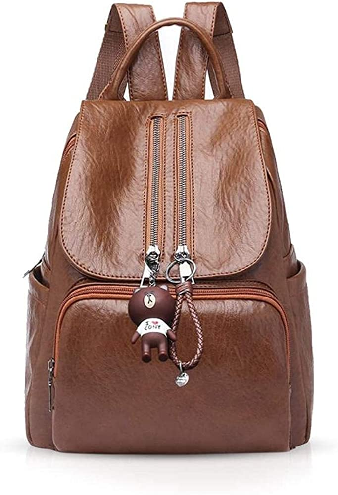 Woman Backpack Handbag Casual daypack Fashion backpack for college ladies rucksack PU Leather