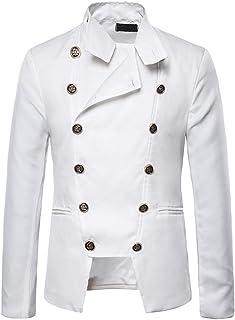 Yczx Men's Steampunk Vintage Blazer Tailcoat Jacket Gothic Victorian Coat Halloween Uniform Costume Stand Collar Suit Froc...