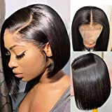 Human Hair Wigs 4x4 Lace Closures Bob Wig Pre...