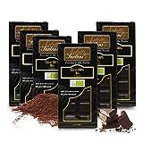 Carioni Food & Health Tableta de Chocolate 100% Cacao, Pasta de Cacao Pura Bio - 90 gr (Paquete de 8 Piezas)