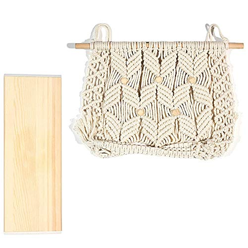 Dasing Indoor Bohemian Bedroom Wall Decoration Tassel Rack Wall Mount, Suitable for Plant Hooks or Crocheted Decorative Shelf