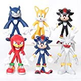 XINBANG Juguetes sónicos 6pcs/Set Sonic Figures Toy Sonic The Hedgehog Shadow Tails Characters PVC Figure Model Toys Kids Gifts 5-11cm
