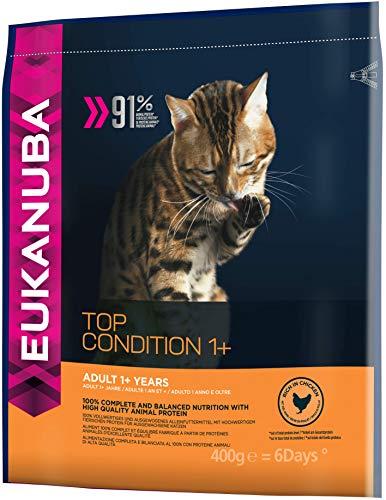 Eukanuba Katze Top Condition, Premium Trockenfutter mit hohem Fleischanteil für erwachsene Katzen 400g