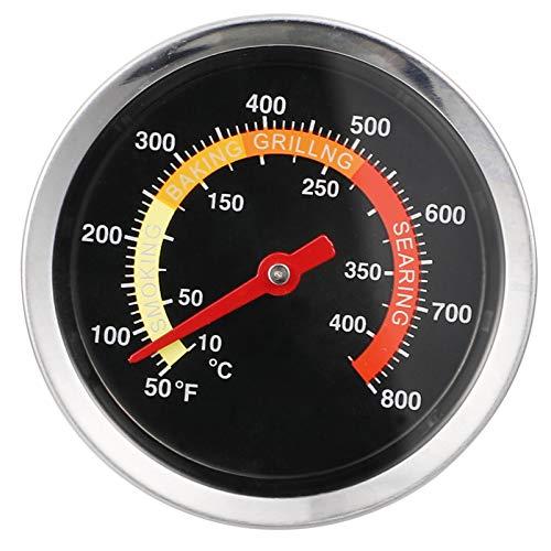 Hemoton Termómetro de Dial Bimetálico 0-400 ? Termómetro de Bolsillo Bi-Therm Termómetro de Cocina para Horno de Acero Inoxidable