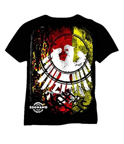 Zoonamo T-Shirt Deutschland Classic, Farbe:schwarz, Größe:L