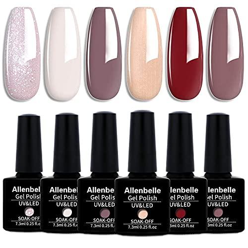 Annabelle - Smalti in gel permanenti per unghie / per nail art, di tipo soak off, asciugatura con lampada UV o a LED (top coat e base coat), set da 6 pezzi da 7,3 ml 002