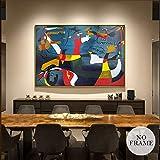 KWzEQ Pintura al óleo Abstracta Famosa Imagen de Lienzo Grande Sala de Estar decoración del hogar Arte de la Pared,Pintura sin Marco,75x112cm