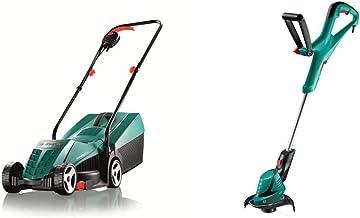 Bosch Rotak 32R Electric Rotary Lawnmower with 32 cm Cutting Width & Bosch ART 24 Electric Grass Trimmer, Cutting Diameter...