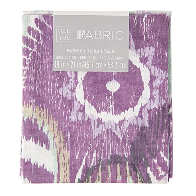 Darice 30029796 Patterned Quilting Fat Quarters: Purple Floral