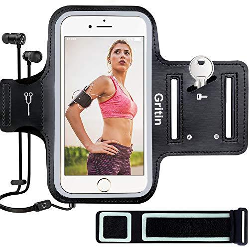Gritin Sportarmband Handy für iPhone 11 Pro/XS/X/8/7/6/6s bis zu 5,8