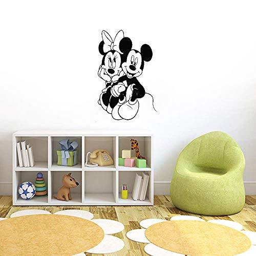 Décoration murale Mickey Minnie Mouse Belle décoration murale maison Mickey Minnie Mouse pour bébé enfants filles chambre décoration Art Decal