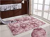 Alfombra Salon Grande Alfombras de Habitacion de Pelos Largo Alfombra Antideslizante Adecuado - Alfombra Antideslizante Muy Suave, Lavable, al Aire Libre Interior (200 x 300 cm, púrpura)