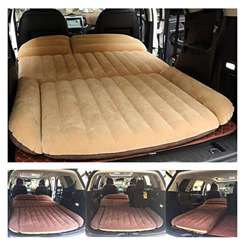 NDYD Car Air Bed 190 * 119 * 12.5CM Camping Car Bed SUV Inflatable Car Mattress For Auto Mattress Flocking Portable Inflatable Cushion Car Travel Bed DSB