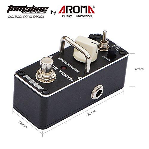 Pedal de efecto distorsión de la marca Aroma Music Tom´sline Engineering., negro