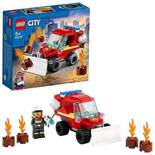 LEGO 60279 City Mini-Löschfahrzeug, Spielzeug mit Feuerwehrauto und Feuerwehrmann, kleines Geschenk für Mädchen und Jungen ab 5 Jahre