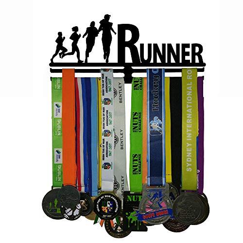 J&X Double-Layer-Design , Medaillenhalter für Sportmedaillenhalter für 30+ Medaillen , Medaillendisplay + Medaillenhalter + Medaillenträger 30+ Medaillen-Marathon, Laufen, Rennen, Medaillen bei Sport