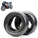 FXBH Neumáticos para Mini Motocicleta, neumáticos 90/65-6.5/110 / 50-6.5 con Ranuras Antideslizantes ensanchadas y engrosadas, Alta Estabilidad, Gran Seguridad y Comodidad