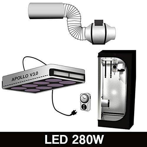 Kit LED 280W + Growbox 120X120X200CM + Aria&Odore