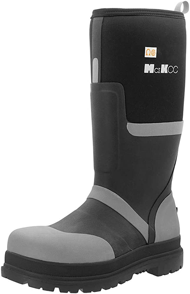 MCIKCC Safety Waterproof Work Boots with Steel Toe Cap Professional Industrial Constructions Neoprene Rubber Boot Durable Protective Footwear