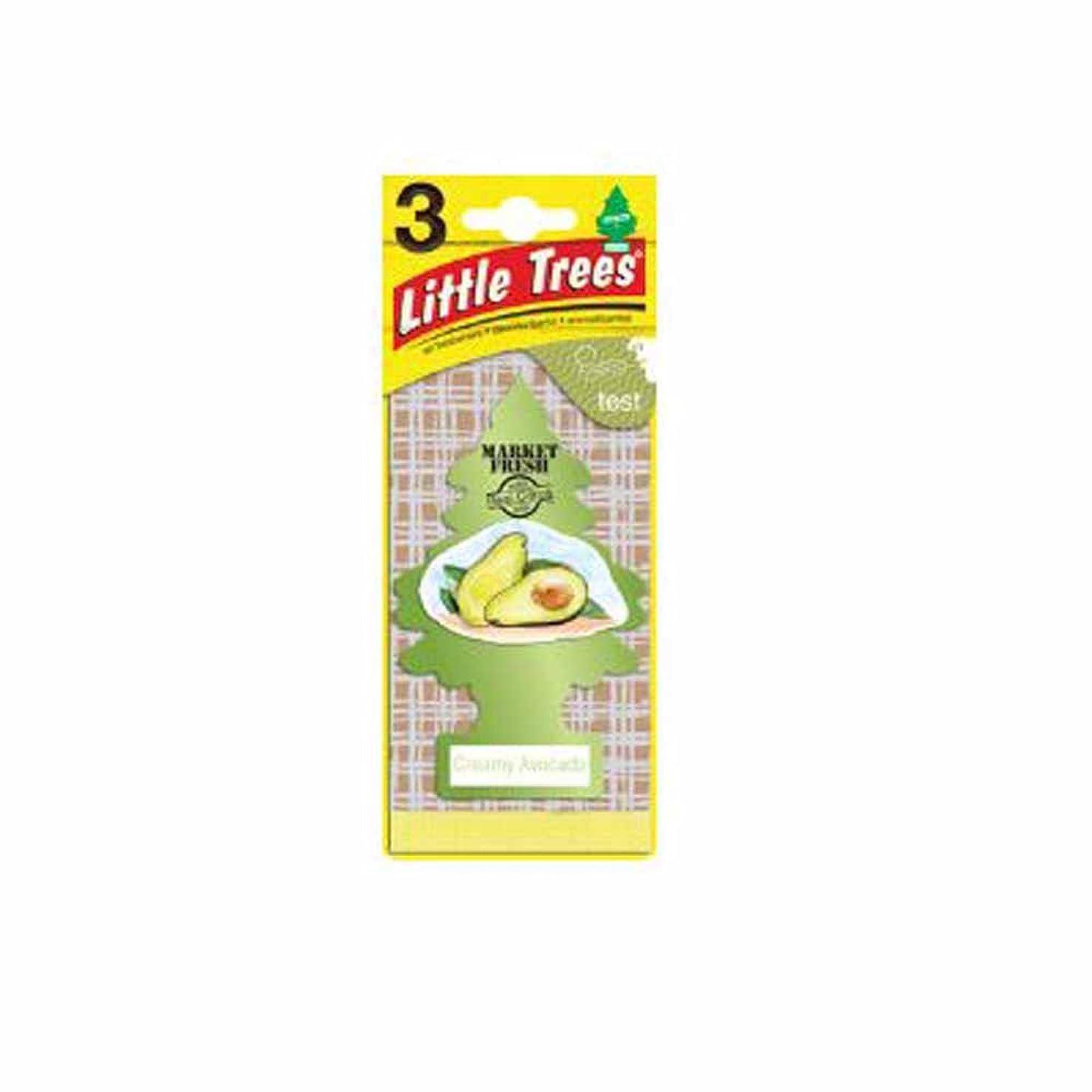 空中意志に反する不正確Little Trees 吊下げタイプ エアーフレッシュナー creamy avocado(クリーミーアボカド) 3枚セット(3P) U3S-37340