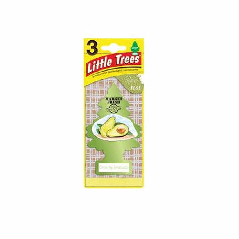 シーン先行する行うLittle Trees 吊下げタイプ エアーフレッシュナー creamy avocado(クリーミーアボカド) 3枚セット(3P) U3S-37340