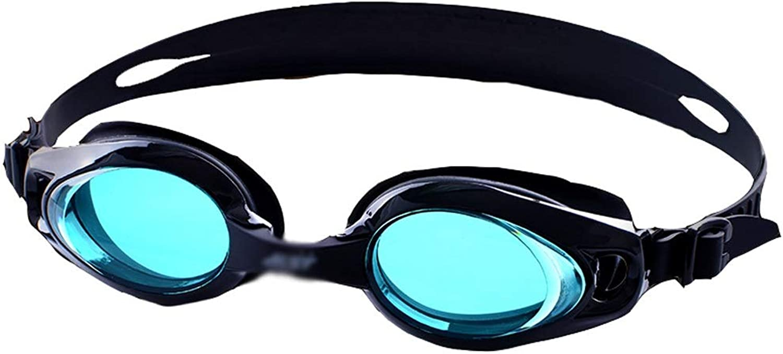 WZHGLASSES Schwimmbrille Erwachsene Schwimmbrille wasserdichte Anti-Fog-Berufsausbildungs-Schwimmausrüstung Für Den Ferien-Schwimmen-Strand, Der Mehrfarben Surft (Farbe   Blau)