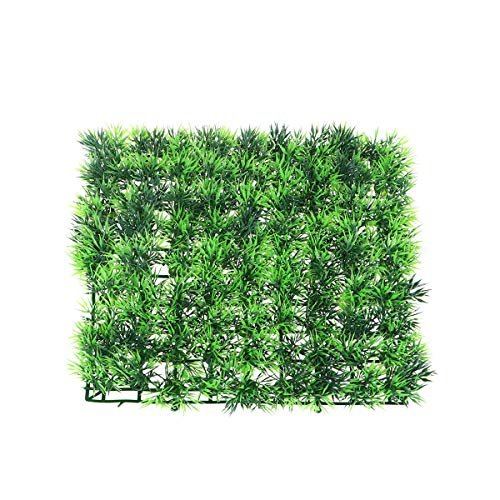 POPETPOP Fish Tank Square Artificial Grass Lawn Aquarium Fake Grass Mat para decoración