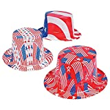 Patriotic America Flag Party Hats for Fourth of July (set of 12)