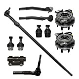Detroit Axle - 4x4 SRW Front Wheel Hub and Bearings + Ball Joints Outer Tie Rods Kit Replacement for 2005-2010 Ford F-250 F-350 SD - 11pc Set
