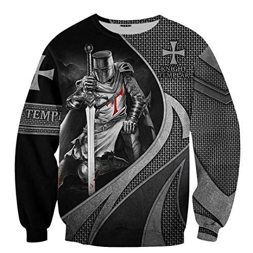 TN-KENSLY Caballeros Templarios Jesús Dios Guardia Cavalier Otoño Pullover Streetwear Impresión 3D Hombres/Mujeres Cremallera/Sudaderas Sweatshirts 5XL