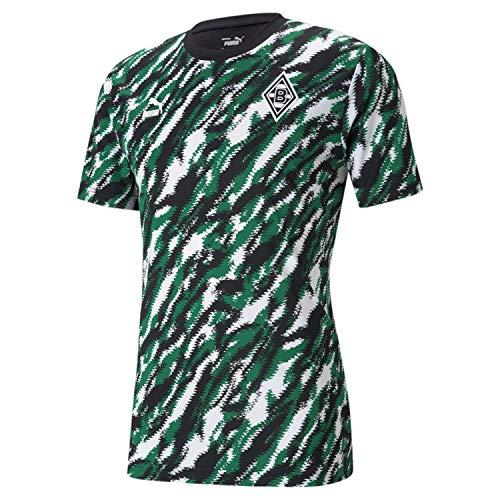 Puma Borussia M´Gladbach Iconic MCS Graphic Tee grün Mönchengladbach Fan Shirt, Größe:XL