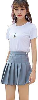 Moda delle donne Gonna A Vita Alta Pieghe Gonna Vento Cosplay Kawaii Harajuku Femminile Mini Gonne Corte Abbigliamento per...