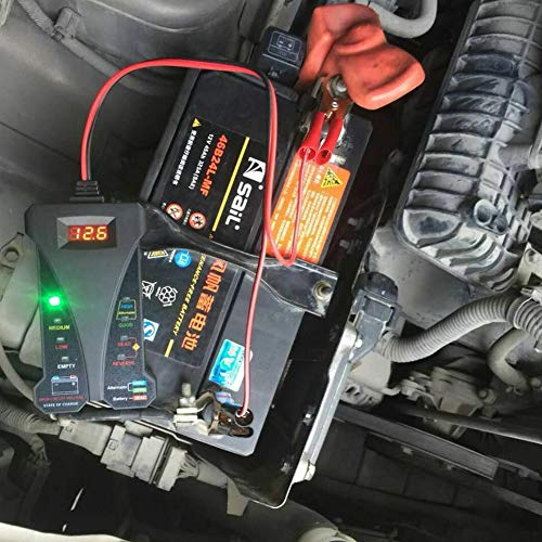 Battery Testers - 805 A Portable Charging System Battery Tester Easy Reading Analyzer Motorcycle Car Check Voltmeter - Testers Battery Load Best Automotive Batteries Small Every Li-ion Digital