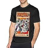 Retro FAI-Ry-Tail - Camiseta de manga corta para hombre de algodón para adultos, camisas de verano divertidas, color negro, Negro, 3XL